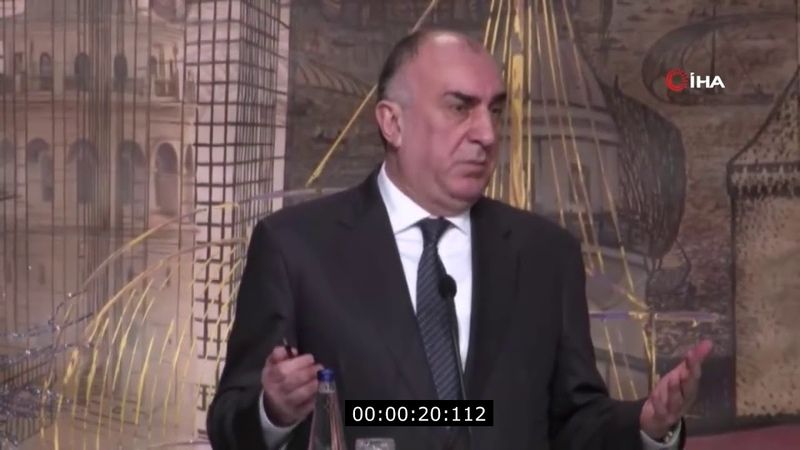 Dünyanın ilk süni intellektli xarici işlər naziri Elmar Məmmədyarov İstanbulda çıxış edib. :)