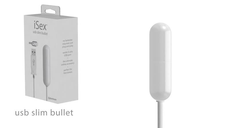 Мини вибратор от Pipedream PD1051-19 iSex USB Slim Bullet