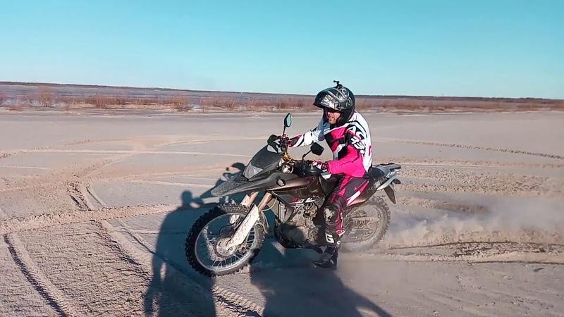 Racer Crossrunner 250 Kawasaki KMX200 катание по округе Новый Уренгой Лимбяяха