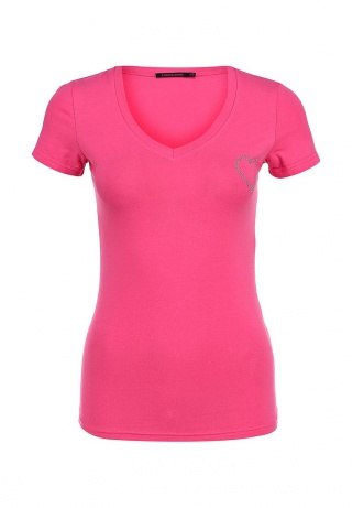 Футболка Incity.  Купить тут ► http://goo.gl/KudyIa Ярко-розовая футболка от Incity, декорированная аппликацией в виде...