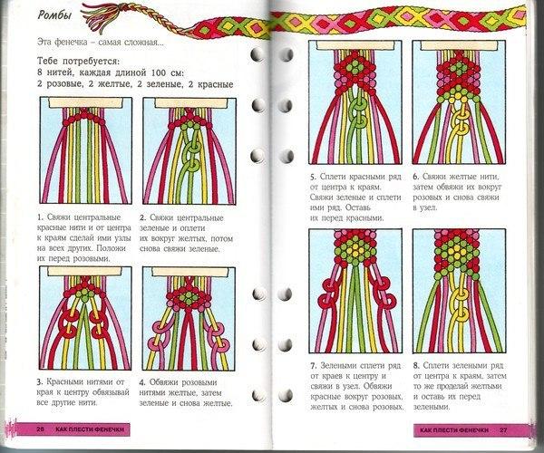 Браслеты из ниток для вязания для начинающих