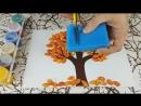 Осенняя поделка для детей из тыквенных семечек