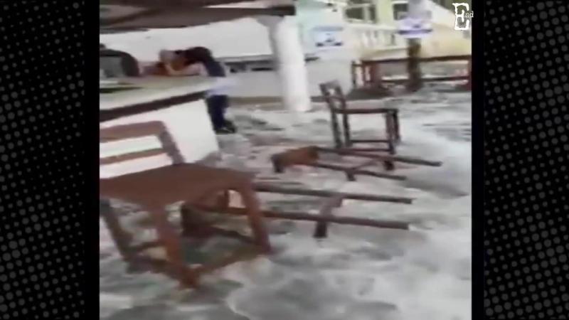 Hurricane Bud in Petacalco, Manzanillo, Gubernatura Mexico