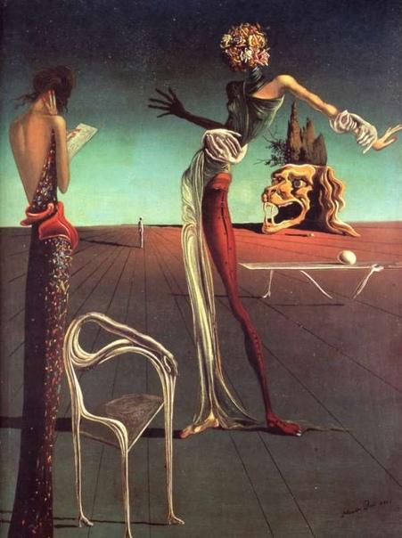 Картина «Женщина с головой из роз», 1935 год.