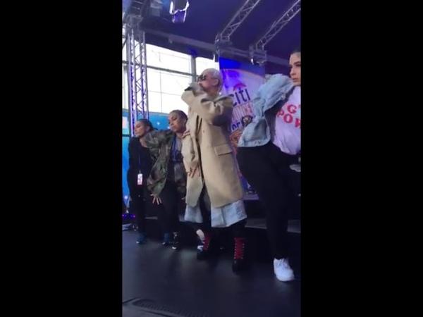 Christina Aguilera Fall in Line - sound check Today Show