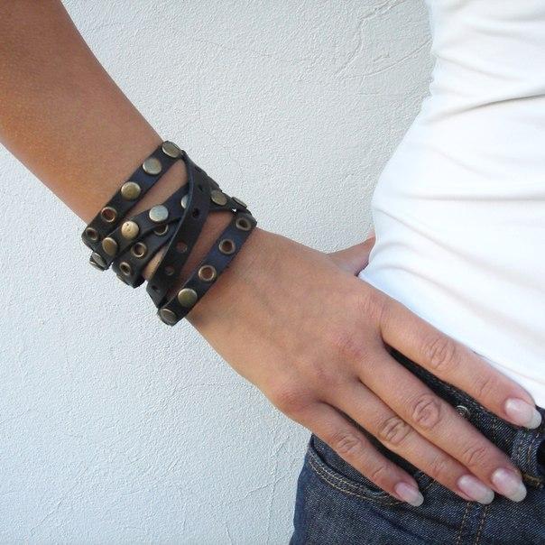 Мужские браслет из кожи своими руками