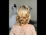 Роскошная причёска с розами
