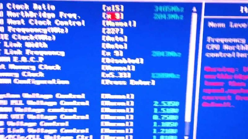 Athlon x4 640 overclock @3409.8Mhz bios setup.mp4