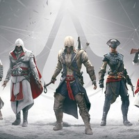 Assassins Creed Brotherhood, Ezio Auditore da Firenze, Assassins Creed The Fall, Николай Orelov, Альтаир ибн Ла- Ахад...