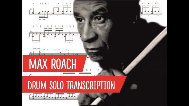 Max Roach Delilah Drum Solo Transcription PDF