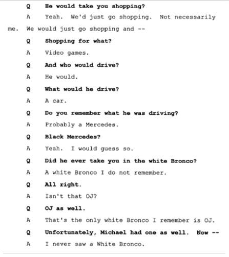 Показания Йоши Уейли, сына Джоли Левин (секретарь MJ)., изображение №12
