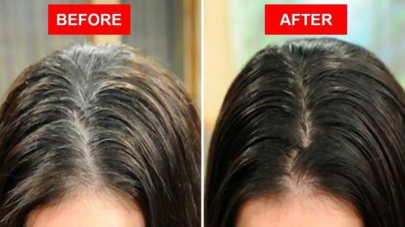 Поверните белые или серые волосы на чёрный естественно используя только 2 ингредиента