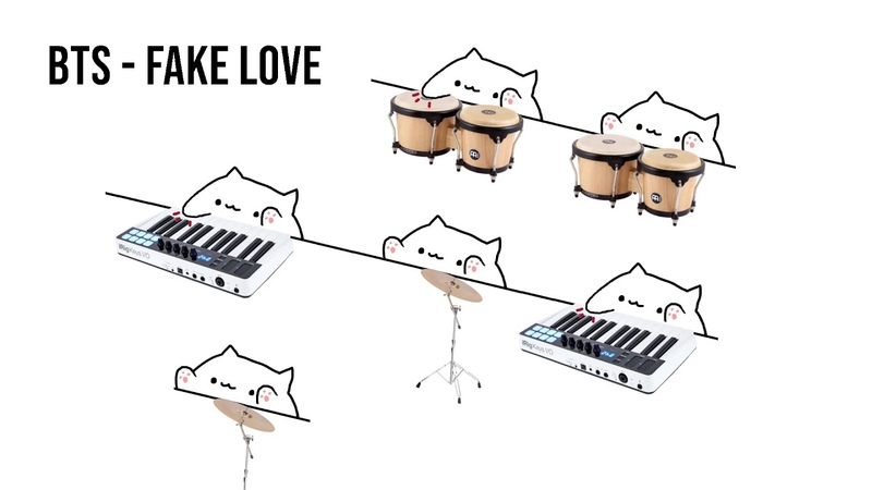 Bongo Cat - BTS Fake Love (K-POP)