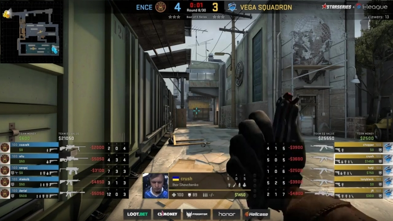 [CS:GO StarLadder] ENCE vs Vega Squadron, map 1 train, Grand Final, StarSeries i-League Season 6 Finals