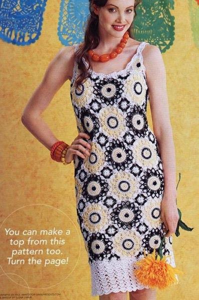 Нарядное платье из мотивов