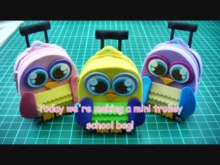 DIY Doll Accessories Mini Trolley School Bag with Zipper - Back to School!