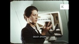 1960s Plane Leaving From London, Cabin Crew, HD from 16mm