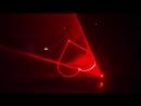Стандартное свадебное лазерное шоу фрагмент реальная съемка, один лазер