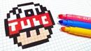 Handmade Pixel Art - How To Draw a YouTube Mushroom pixelart