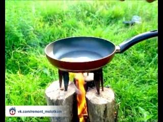 Интересный вариант для приготовления еды на природе