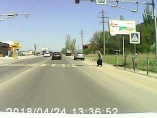 Позитив на пешеходе