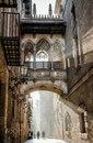 Готический квартал – центральная и самая старинная часть Старого города Барселоны, Испания…