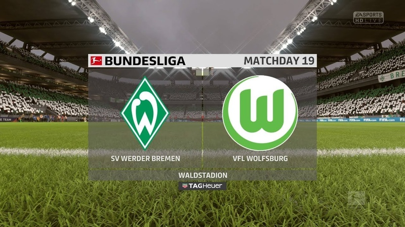 FIFA 18 | Werder Bremen vs Wolfsburg | Bundesliga | Full Gameplay (PS4Xbox One)