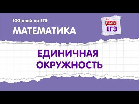 Единичная окружность ЕГЭ по математике