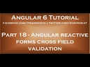 Angular reactive forms cross field validation