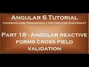 Angular reactive forms cross field validation