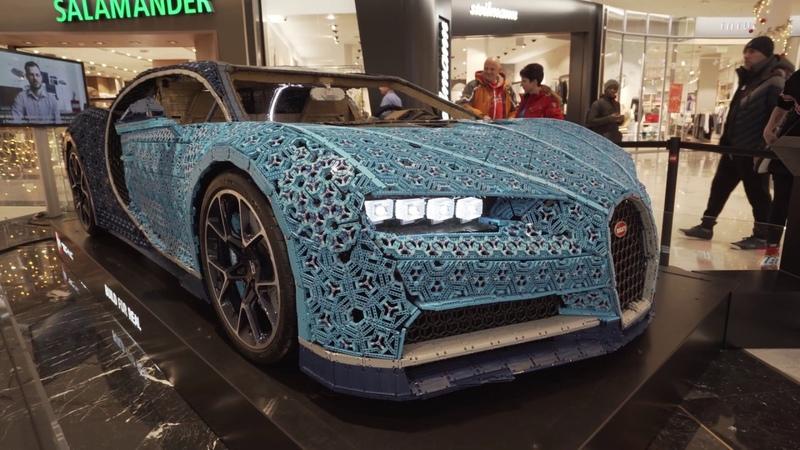 Life-size Lego Technic Bugatti Chiron that drives [Prague 2018]
