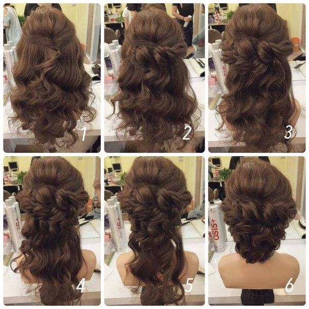 Вечерняя прическа своими руками на длинные волосы фото