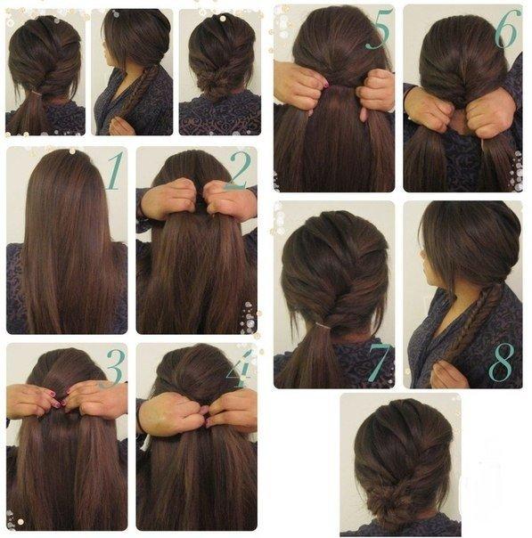 быстрые прически на длинные волосы самостоятельно