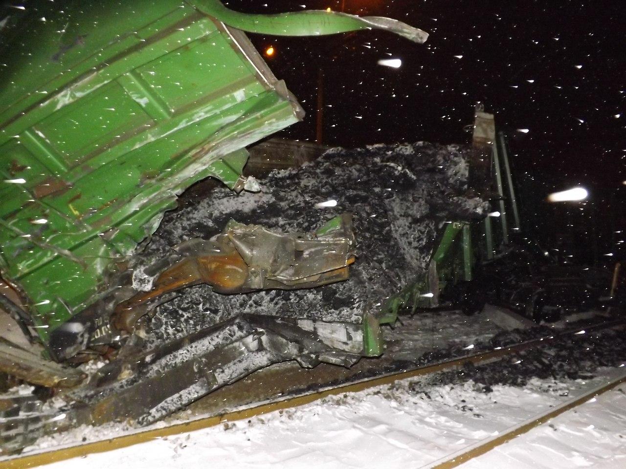 Крушение грузового поезда в Барановичах