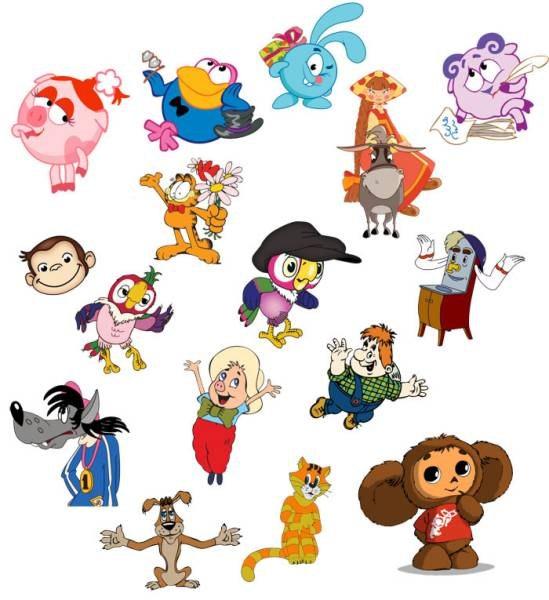 Ха-ха.  Столько героев детства дал нам Союзмультфильм.  90. А сколько их на этой картинке.  4. 20.