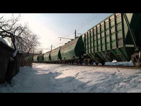 Соединённый грузовой поезд ВЛ80С-761/758 и ВЛ80Т-862