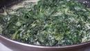 ШПИНАТ как приготовить шпинат Идея обеда Fresh spinach with cream
