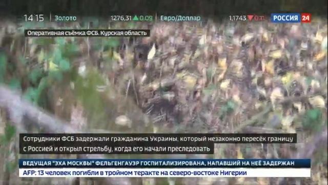 Новости на Россия 24 • В Курской области украинец обстрелял пограничников