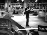 Charlie Chaplin. Modern Times - Roller Skating Scene