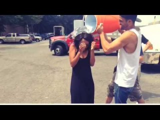 Kat Graham accepts the ALS Ice Bucket Challenge