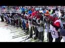 Старт лыжной гонки