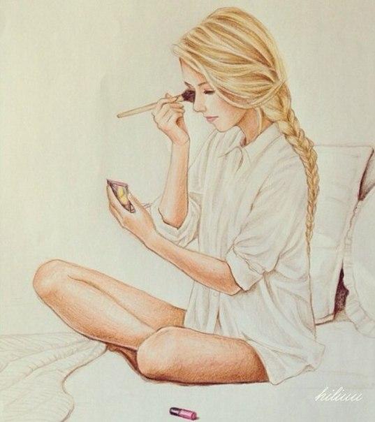 аватарки девушки нарисованные: