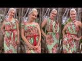 Как завязать из платка летнее платье, парео или сарафан на пляж (8 способов)