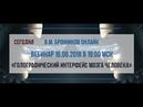 16.06.2018 Вебинар «Голографический интерфейс мозга человека»