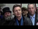 Liam Neeson &amp Demos P. Demopoulos, Teamsters Local 553 @ NYC Horse Carriages Press Conf.