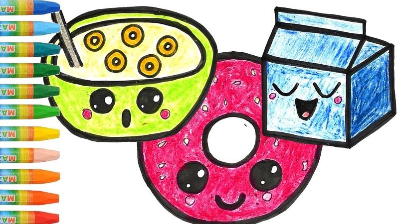 🐷Vẽ và tô màu Dụng cụ Bếp | Bé Học Tô Màu | Glitter Kitchen Tools Coloring Pages with Piggy🐷