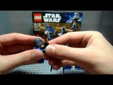 Обзор на лего star wars 7914 Mandalorian Battle Pack
