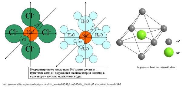 что каждый ион Nа+ окружен