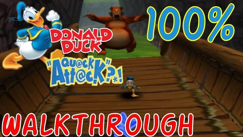 Donald Duck Quack Attack FULL 100% Walkthrough Goin' Quackers