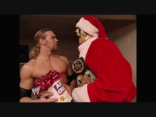 WWE Monday Night Raw 16th December 2002 - Goldust gives Christian a present - New & Improved Ass Cream
